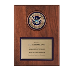 DHS Plaque – 9″x 12″ tall with 3″ Medallion
