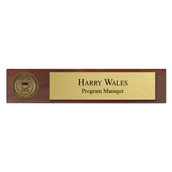 FEMA Desk Nameplate with 1 3/4″ coin