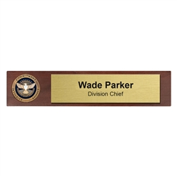 TSA Desk Nameplate with 1 3/4″ coin