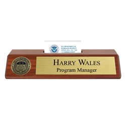 ICE Nameplate with Business Card Holder