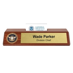 TSA Nameplate with Business Card Holder