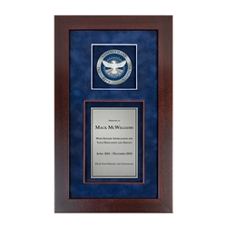 TSA Shadow Box with Medallion – Cherry Frame