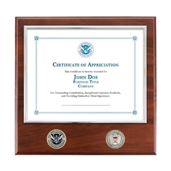 DHS Certificate Plaque (Coins)