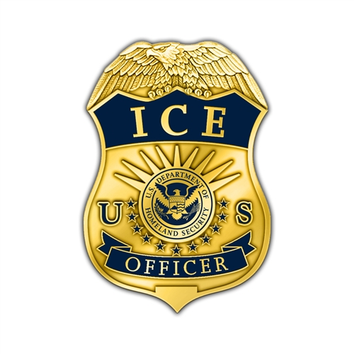 ICE Badge Officer Lapel Pin