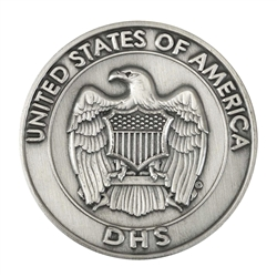 DHS Challenge Coin - Antique Nickel