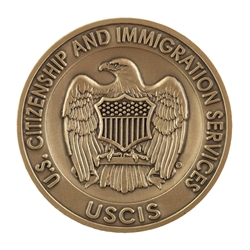 USCIS Agency Coin - Antique Brass