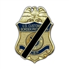 CBP Badge Mourning Lapel Pin
