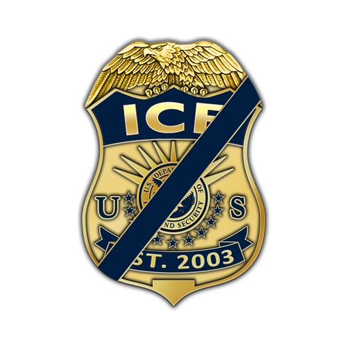 ICE Badge Mourning Lapel Pin – Est. 2003