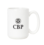 CBP 15-ounce White Mug