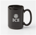 ICE 15-ounce Black Mug