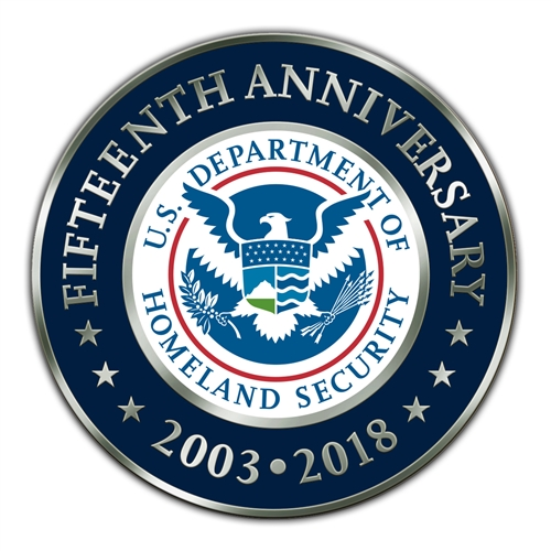 DHS 15th Anniversary Lapel Pin