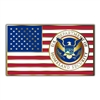 American Flag with DHS Seal