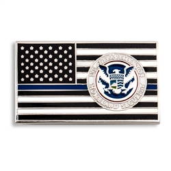 DHS Blue Line Lapel Pin