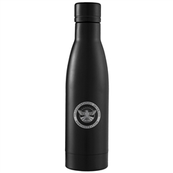 TSA Black Stainless Steel Vacuum Bottle