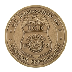ICE Badge Coin - Antique Brass