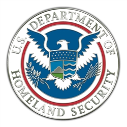 DHS Seal Silver Lapel Pin – 3/4″ diameter