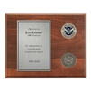 DHS Plaque – 8″ x 10″ wide with two 1 3/4″ coins