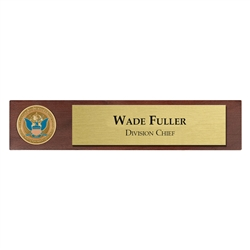 CBP Desk Nameplate with 1 3/4″ coin