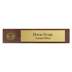 USCIS Desk Nameplate with 1 3/4″ coin