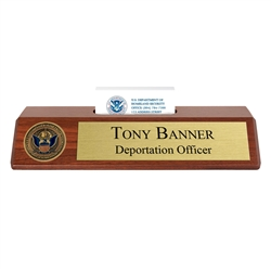 CBP Nameplate with Business Card Holder
