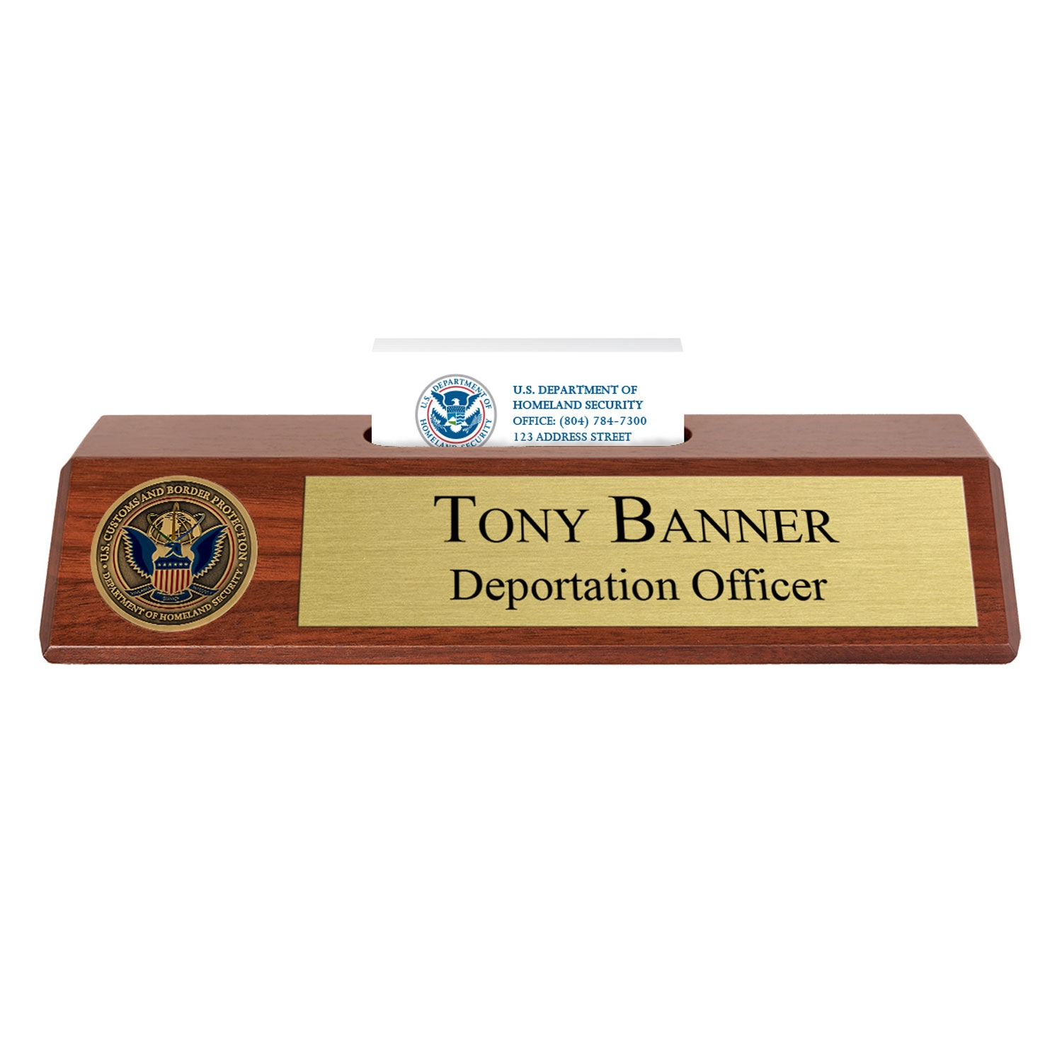 Cbp nameplate with business card holder colourmoves