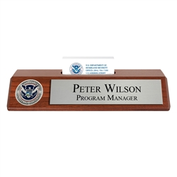 DHS Nameplate with Business Card Holder
