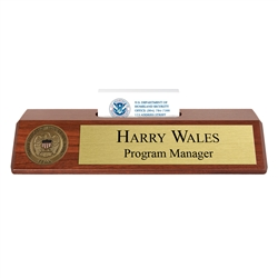 FEMA Nameplate with Business Card Holder