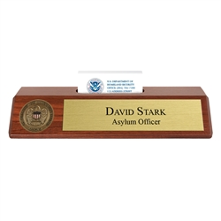 USCIS Nameplate with Business Card Holder
