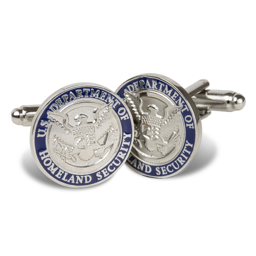 DHS Silver Plated Cuff Links