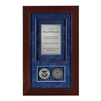 Recognition Shadow Box (Cherry) w/ Coins (DHS)