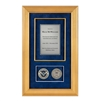 Recognition Shadow Box (Gold) w/ Coins (DHS)