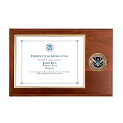 DHS Certificate Plaque (Medallion)