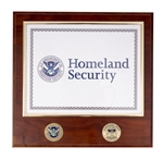 TSA Certificate Plaque with Coins