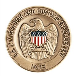 ICE Agency Challenge Coin - Brass/Color