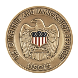 USCIS Agency Challenge Coin - Antique Brass/Color