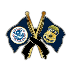 DHS/ICE Mourning Lapel Pin