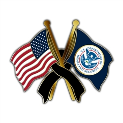 USA/DHS Mourning Lapel Pin