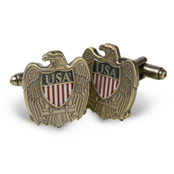USA/Eagle Cufflinks - Antique Brass