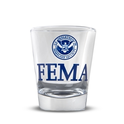FEMA Clear Shot Glass