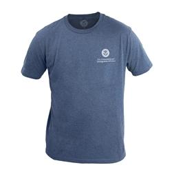 Heather Navy 60/40 T-Shirt (USCIS)