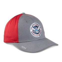 Gray and Red Hat with Full Color DHS Seal
