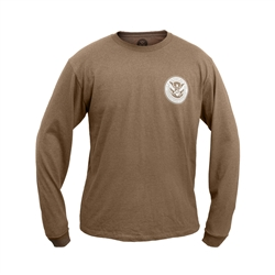 Mocha Brown Long Sleeve Tee Shirt