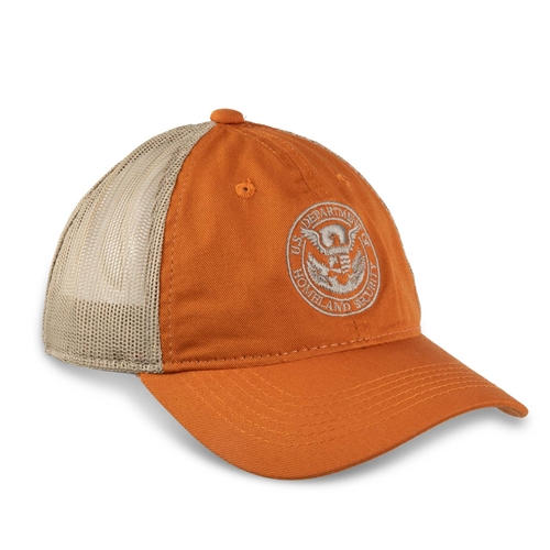 Orange/Khaki Mesh Hat (DHS)