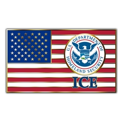 ICE American Flag Lapel Pin