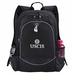 "USCIS Black 15"" Computer Backpack"